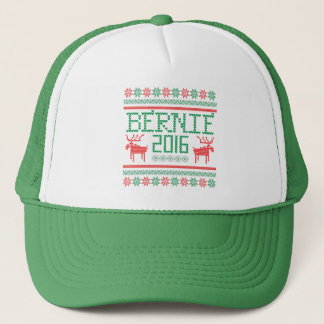 Bernie Sanders 2016 President Ugly Holiday Sweater Trucker Hat