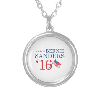 Bernie Sanders 2016 Silver Plated Necklace