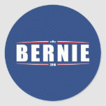 Bernie Sanders 2016 (Stars & Stripes - Blue) Round Sticker