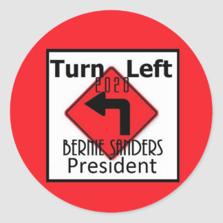 Bernie SANDERS 2020 Classic Round Sticker