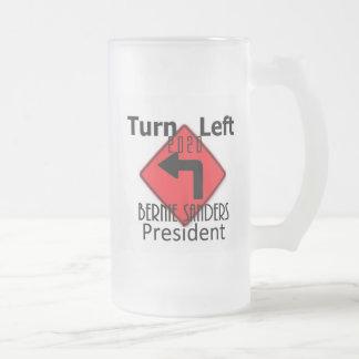 Bernie SANDERS 2020 Frosted Glass Beer Mug
