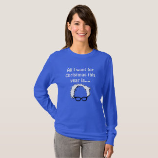 Bernie Sanders Blue Christmas Sweatshirt