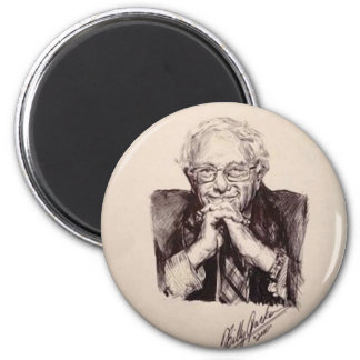 Bernie Sanders by Billy Jackson 2 Inch Round Magnet