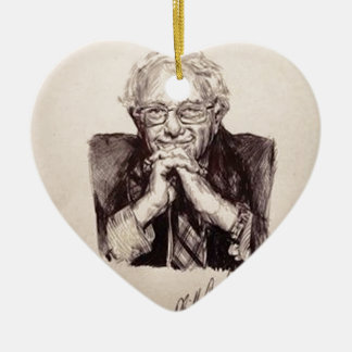 Bernie Sanders by Billy Jackson Ceramic Ornament