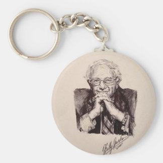 Bernie Sanders by Billy Jackson Keychain