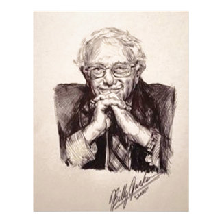 Bernie Sanders by Billy Jackson Letterhead