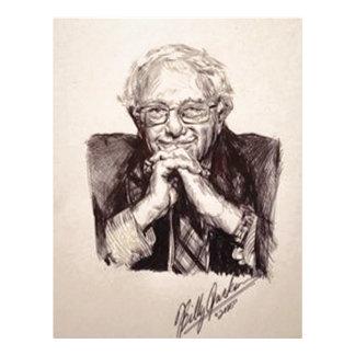 Bernie Sanders by Billy Jackson Letterhead Template