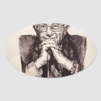 Bernie Sanders by Billy Jackson Oval Sticker