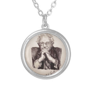 Bernie Sanders by Billy Jackson Silver Plated Necklace