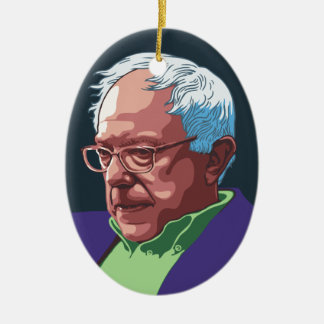 Bernie Sanders -col Ceramic Ornament