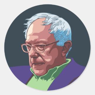 Bernie Sanders -col Classic Round Sticker