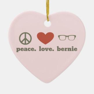 Bernie Sanders Election Swag Ceramic Heart Ornament