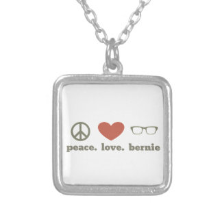 Bernie Sanders Election Swag Silver Plated Necklace