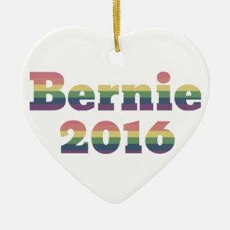 Bernie Sanders for President 2016 Ceramic Heart Ornament