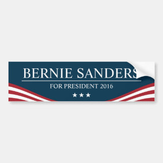 Bernie Sanders for President 2016 Modern Bumper Sticker
