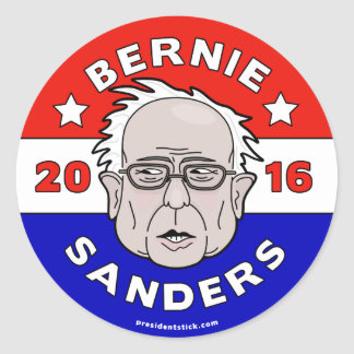 Bernie Sanders for President 2016 Sheet Classic Round Sticker