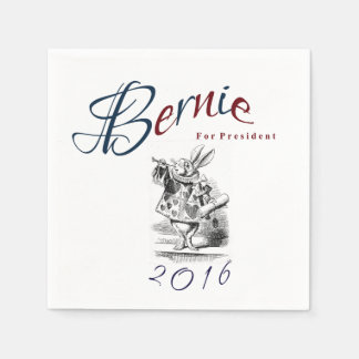 Bernie Sanders for President 2016 - White Rabbit Paper Napkins