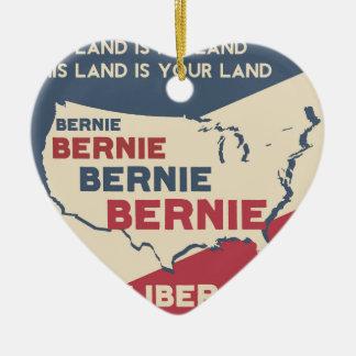 Bernie Sanders for President Ceramic Heart Ornament