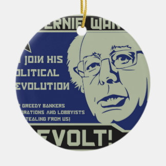 Bernie Sanders for President Ceramic Ornament
