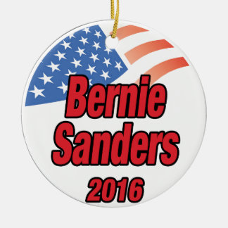 Bernie Sanders for president in 2016 Ceramic Ornament