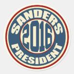 Bernie Sanders for President in 2016 Classic Round Sticker