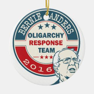 Bernie Sanders for President Round Ceramic Ornament