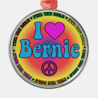 Bernie Sanders for President Silver-Colored Round Ornament