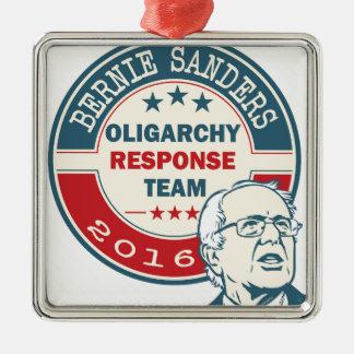 Bernie Sanders for President Silver-Colored Square Ornament