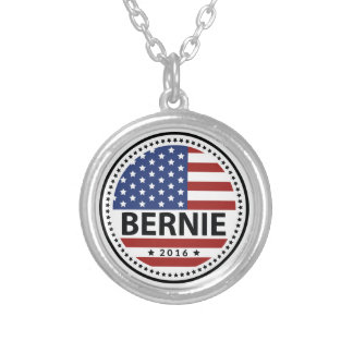 Bernie Sanders For President Silver Plated Necklace