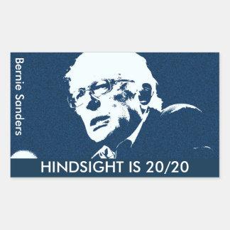 "Bernie Sanders  ""HINDSIGHT IS 20/20 sticker (4)"