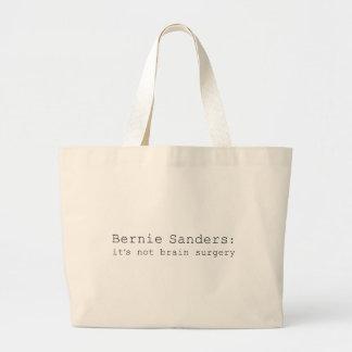Bernie Sanders: it's not brain surgery Large Tote Bag