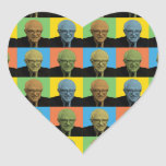 Bernie Sanders Pop-Art Heart Sticker