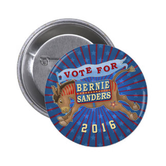 Bernie Sanders President 2016 Democrat Donkey 2 2 Inch Round Button