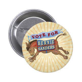 Bernie Sanders President 2016 Democrat Donkey 2 Inch Round Button