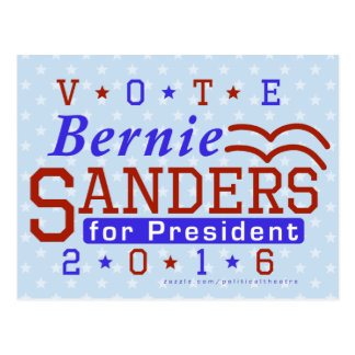 Bernie Sanders President 2016 Election Democrat Postcard