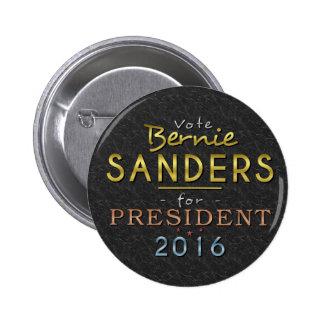 Bernie Sanders President 2016 Gold Black Classy 2 Inch Round Button