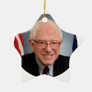 bernie sanders president ceramic star ornament