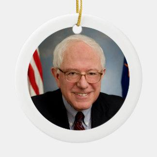bernie sanders president round ceramic ornament
