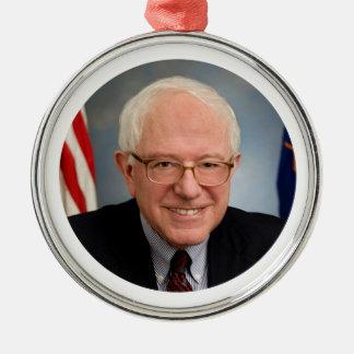 bernie sanders president Silver-Colored round ornament