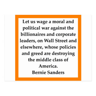 Bernie Sanders quote Postcard