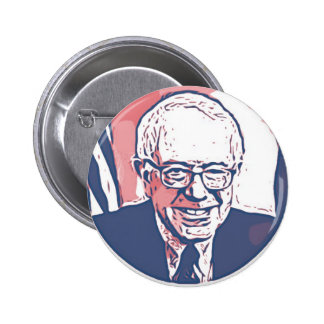 Bernie Sanders Red, White and Blue Button