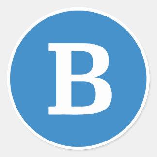 "Bernie Sanders Round ""B"" Sticker"