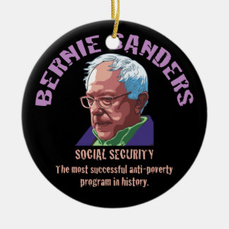Bernie Sanders SSI Round Ceramic Ornament