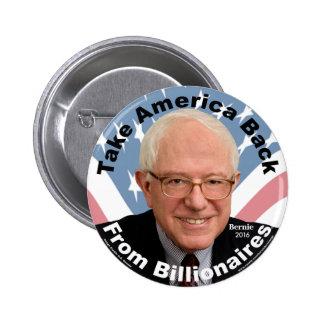 Bernie Sanders Take America Back Button