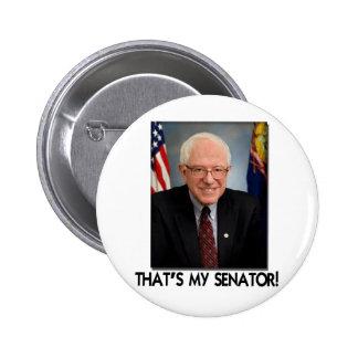 Bernie Sanders, That's My Senator! 2 Inch Round Button