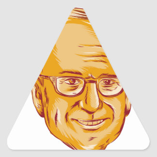 Bernie Sanders US Senator Triangle Sticker