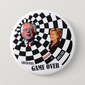 Bernie Sanders vs. Hillary Clinton 3 Inch Round Button