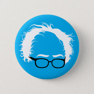 Bernie Sanders Wild Hair Button