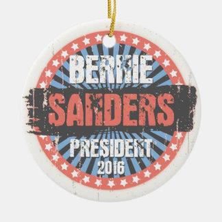 Bernie Smear Campaign Gear Round Ceramic Ornament