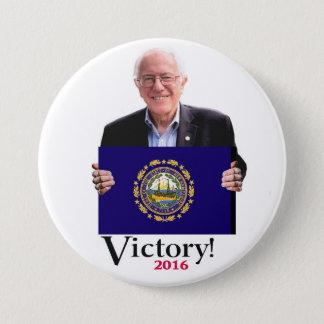 Bernie Will win the New Hampshire Primary 3 Inch Round Button